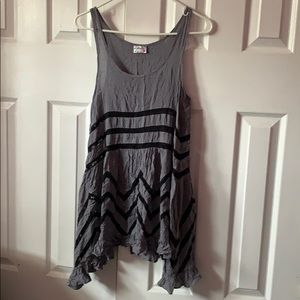 black and grey free people dress